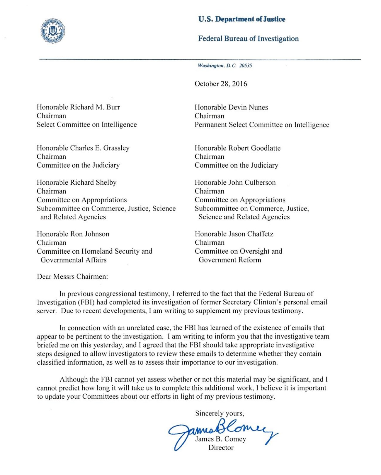 full letter to Congress